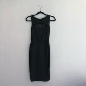 Black sleeveless fitted Caché size 4 dress